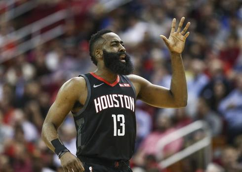 James Harden, durante el partido ante los Warriors.
