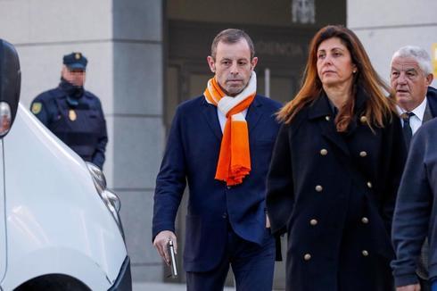 Sandro Rosell, a su llegada a la Audiencia Nacional, este jueves.