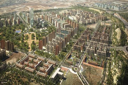 Vista aérea de la recreación del barrio de El Cañaveral.