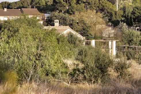 La casa okupada donde vivía la familia.