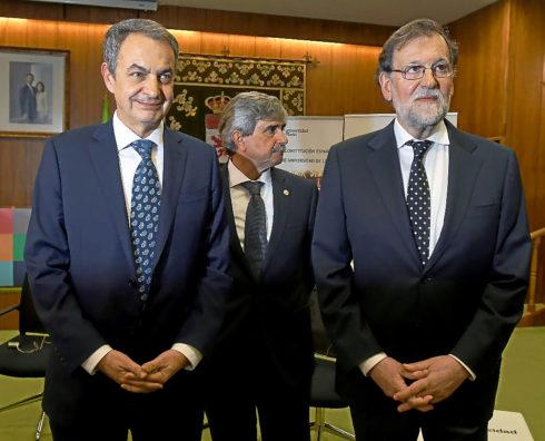 """Zapatero y Rajoy instan a los partidos a aparcar los """"prejuicios"""""""