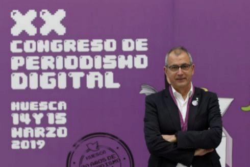 Fernando García Mongay, director del Congreso de Periodismo Digital de Huesca.