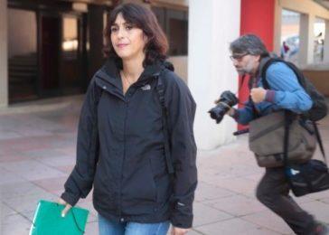 Juana Rivas, el día en que recogió la sentencia de primera instancia.