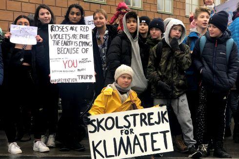Swedish 16-year-old environmental activist <HIT>Greta</HIT> Thunberg...