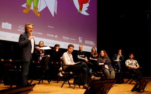 De pie Antonio Rubio y sentados los representantes de los nuevos proyectos periodísticos