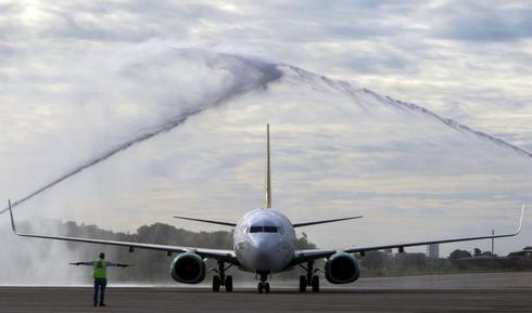 Un 737 MAX en el aeropuerto brasileño de Fortaleza.
