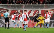 Traoré marca el cuarto gol ante el Sevilla.