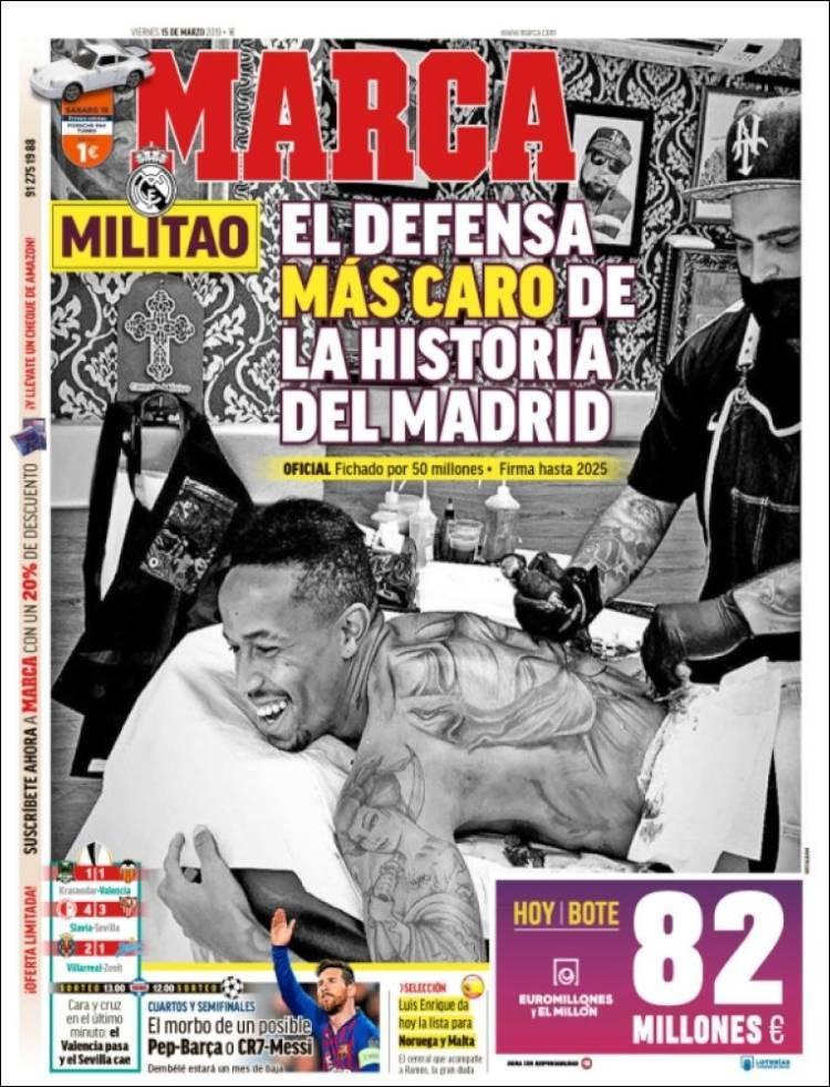 Las portadas de los periódicos del 15 de marzo