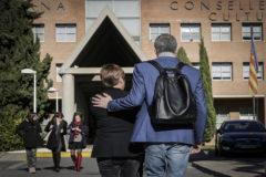Toni Cantó y Mercedes Ventura, en la Conselleria de Educación.