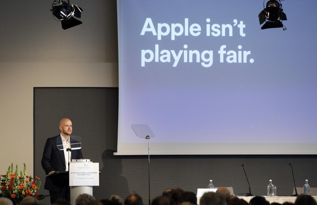 Daniel Ek, fundador y CEO de Spotify, en una charla con menciones a Apple.