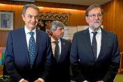 """Zapatero y Rajoy instan a aparcar los """"prejuicios"""""""