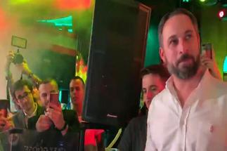 Santiago Abascal en un acto de Vox.
