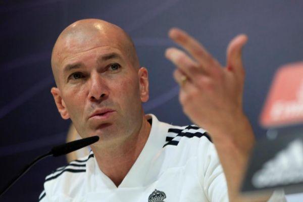 Zinedine Zidane, durante la rueda de prensa de este viernes.