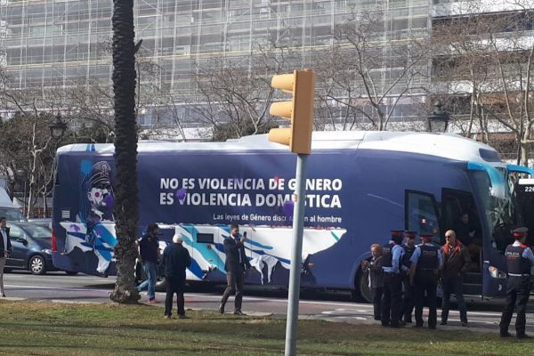 Autobús de la polémica en Barcelona