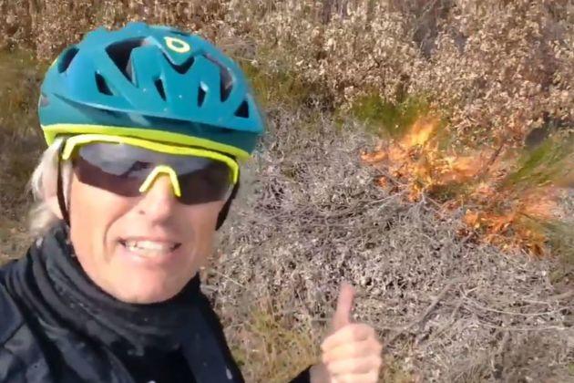 Jesús Calleja ha evitado un incendio en León y lo cuenta en Twitter