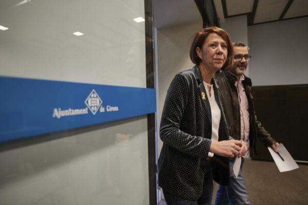 GIRONA. 12/03. 2019. Marta <HIT>Madrenas</HIT> Presenta la incorporación de Martí Terés a la lista de PDCAT