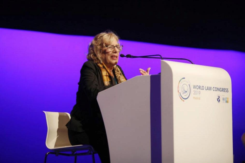 Manuela Carmena, en el World Law Congress. | SERGIO GONZÁLEZ VALERO