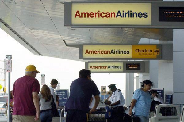 Puerta de embarque en el aeropuerto JFK de Nueva York. Foto de archivo.