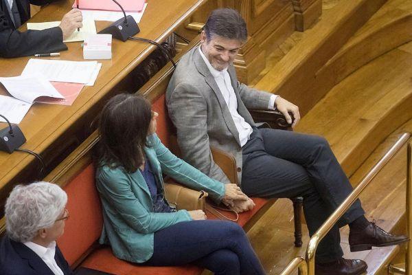 El ex dirigente de CDC Oriol Pujol, en la Audiencia de Barcelona.