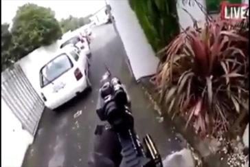 El terrorista emitió en directo el atentado.