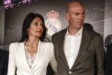 Veronique Fernández junto a Zinedine Zidane