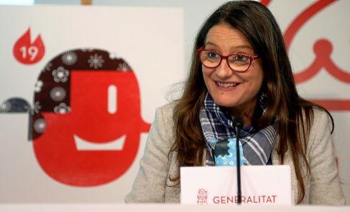 La vicepresidenta y portavoz del Consell, Mónica Oltra, ayer en rueda de prensa.