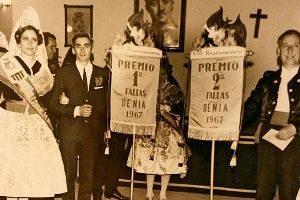 Lliurament de premis en 1967 i la Falla Oeste el 1983.