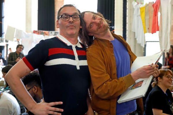 El editor Javier Zalbidegoitia (Astiberri) y el ilustrador Brecht Evens