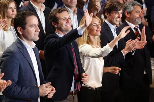 Pablo Casado, durante la presentación de candidatos del PP
