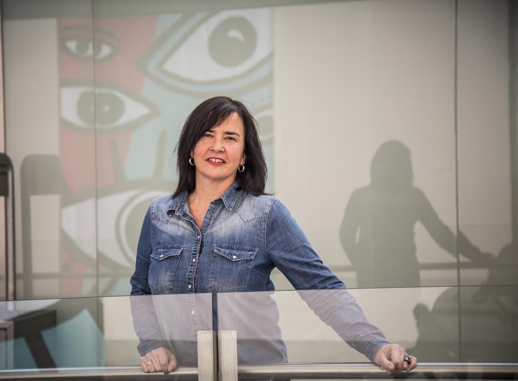 Cristina Macazaga, parlamentaria de Elkarrekin Podemos.