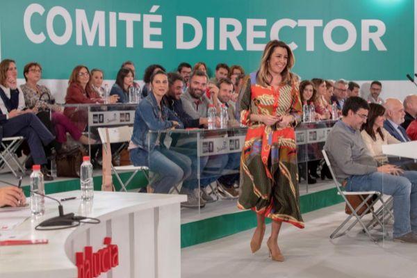 La líder del PSOE andaluz, Susana Díaz, en el último Comité Director.