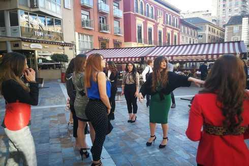 Ensayos de Elche Fashion Weekend en el centro de Elche, en una imagen tomada la semana pasada.