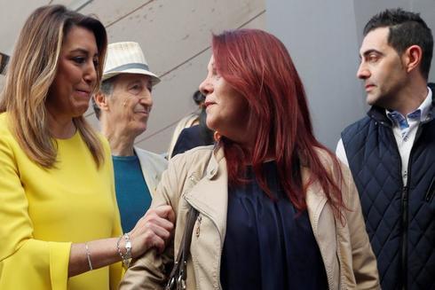Susana Dïaz, este sábado en Sevilla, en la rotulación de la calle dedicada a Ana Orantes.