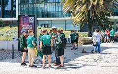 Niños de un colegio de Lisboa