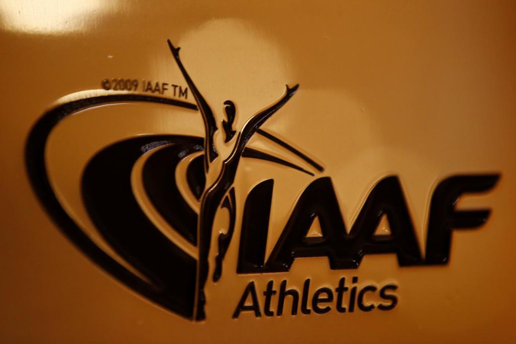 FILE PHOTO: A view shows the logo at the The International Association...