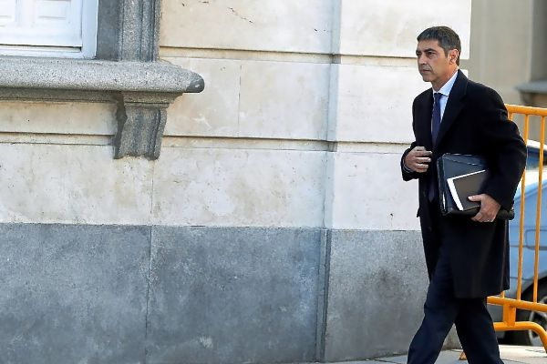 El mayor Josep Lluís Trapero, en la sesión del jueves en el Tribunal Supremo.