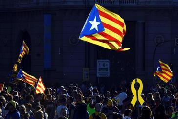 Manifestación independentista en el centro de Madrid