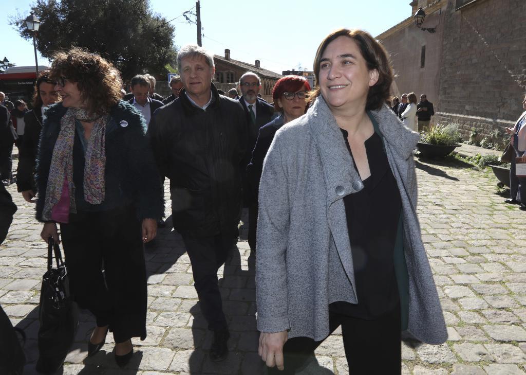 Antonio Moreno 15.03.2019 Barcelona Cataluña.La alcaldesa Ada <HIT>Colau</HIT> en la visita a las Clarisas del Monasterio de Pedralbes.