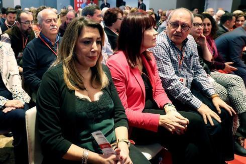 La ex presidenta andaluza, Susana Díaz, en el Comité Federal del PSOE