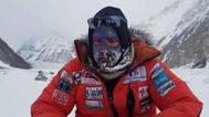 Alex Txikon, durante su intento de hollar la cima del K2.
