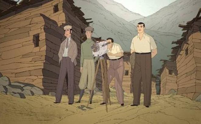 La película de animación 'Buñuel en el laberinto de las tortugas' recrea el rodaje de 'Tierra sin pan'.