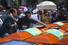 Multitudinario funeral por el accidente aéreo del domingo