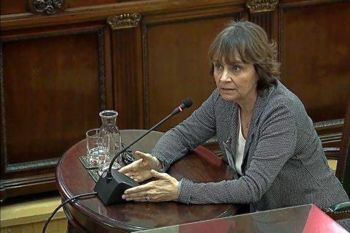 Teresa Prohias, durante el juicio en el Supremo