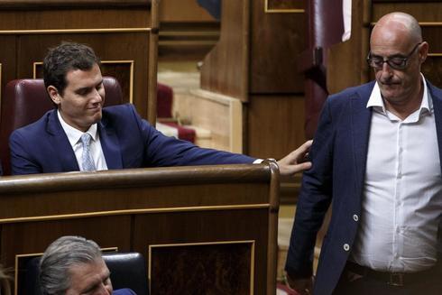 Albert Rivera y Félix Álvarez en un pleno en el Congreso