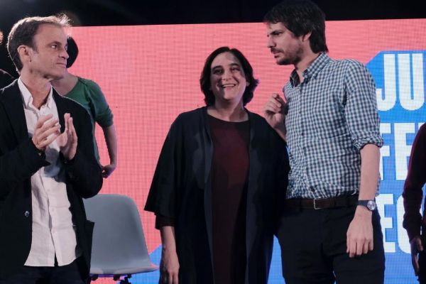 Jordi <HIT>Soteras</HIT> Catalunya Barcelona 17/03/2019 Acto electoral de la alcaldesa Ada Colau. Jaume Asens y Urtasun en las Cotxeres de Sants Foto Jordi <HIT>Soteras</HIT>