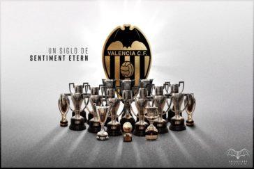 Imagen oficial con la que el Valencia CF celebra su Centenario.