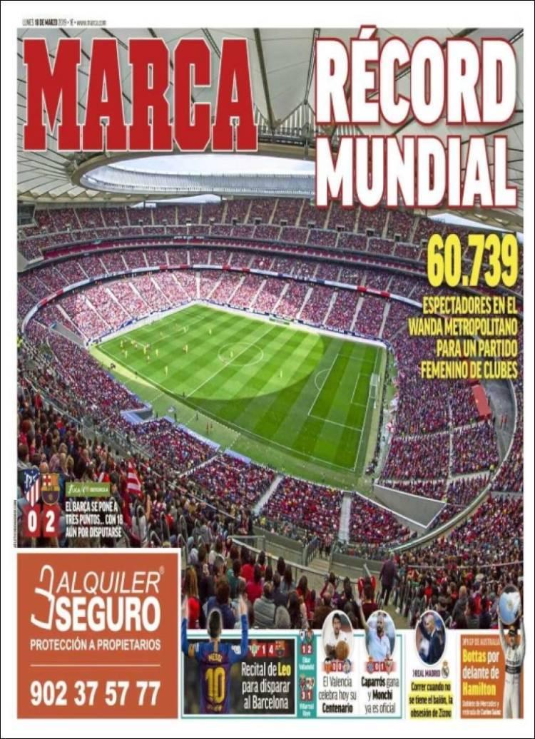 Las portadas de los diarios deportivos del lunes