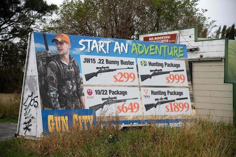 """En la """"tienda de armas más grande del mundo"""" en Christchurch"""