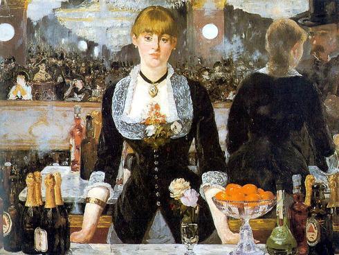 'Un bar en el Folies Bèrger', de Édouard Manet.