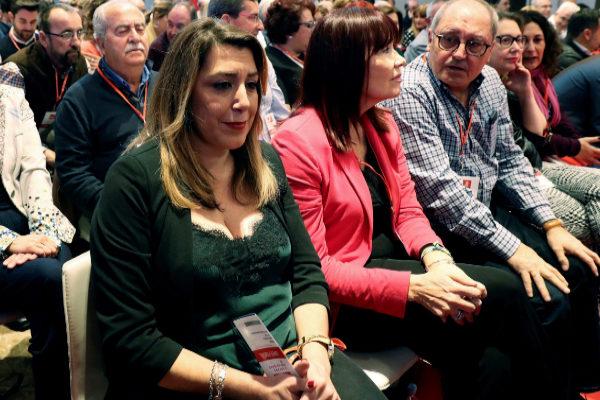 Susana Díaz, durante el Comité Federal del PSOE en el que se aprobaron las listas el pasado domingo.
